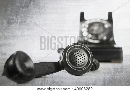 vintage grunge phone on white