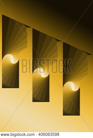 Abstract Design In Yellow Gradient Colors, Background And Texture