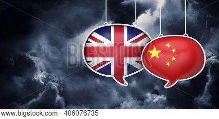 Uk And China Brexit Negotiation Talks. 3d Rednering