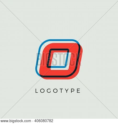 Stunning Letter O With 3d Color Contour, Minimalist Letter Graphic For Modern Comic Book Logo, Carto