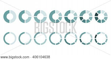 Pie Sector Rings On White Background. Business Infographic Template. Vector Stage. Round Shape. Stoc
