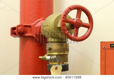 High pressure fire hose valve concept of fire safety and emergency