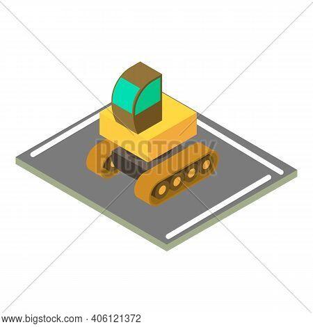 Construction Machinery Icon. Isometric Illustration Of Construction Machinery Vector Icon For Web