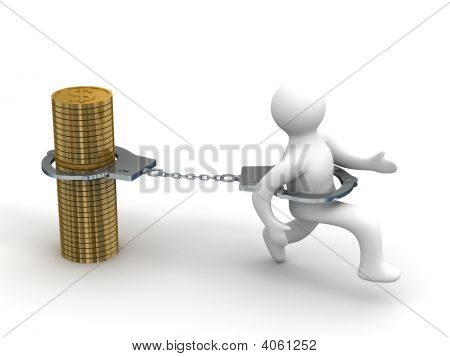 Promissory notes. Financial crisis. Isolated 3D image poster