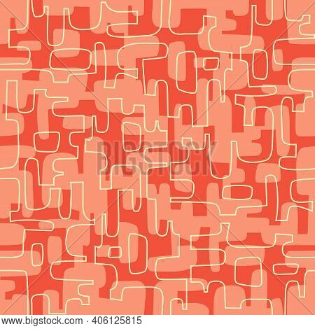 Seamless Abstract Mid Century Modern Pattern For Backgrounds, Fabric Design, Wrapping Paper, Scrapbo