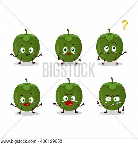 Cartoon Character Of Black Sapote With What Expression