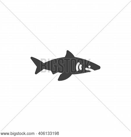 Shark Fish Line Icon. Linear Style Sign For Mobile Concept And Web Design. Shark Predator Outline Ve