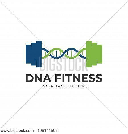 Gym Dna Fitness Logo Design Vector Illustration