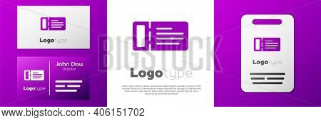 Logotype Cruise Ticket For Traveling By Ship Icon Isolated On White Background. Travel By Cruise Lin