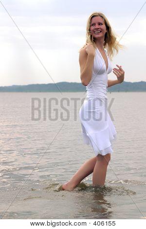 Blond Walking On Water