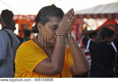 Kuala Lumpur, Malaysia - February 2, 2015: Thaipusam Devotion In Batu Caves, Kuala Lumpur. Thaipusam