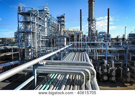 visión global de la industria del petróleo y gas, leve efecto HDR
