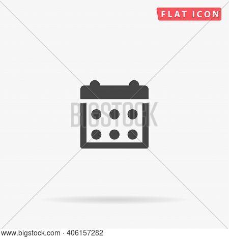 Calendar Flat Vector Icon. Hand Drawn Style Design Illustrations.