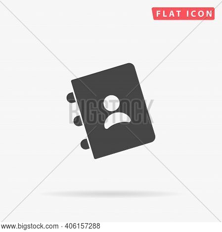 Contact Book Flat Vector Icon. Hand Drawn Style Design Illustrations.