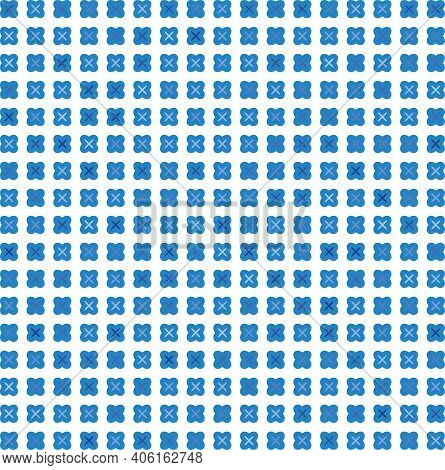 Seamless Pattern With Blue Criss-cross On White Surface