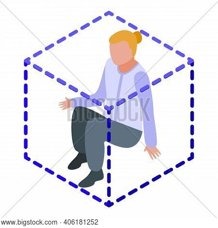 Fearful Woman Icon. Isometric Of Fearful Woman Vector Icon For Web Design Isolated On White Backgrou