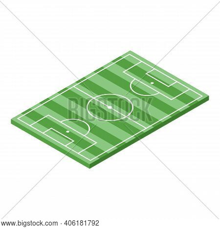 Soccer Field Icon. Isometric Of Soccer Field Vector Icon For Web Design Isolated On White Background
