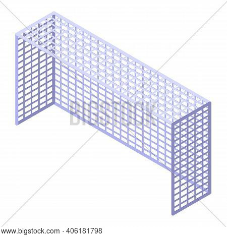 Soccer Net Icon. Isometric Of Soccer Net Vector Icon For Web Design Isolated On White Background