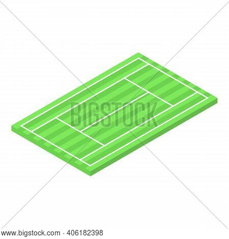 Tennis Court Icon. Isometric Of Tennis Court Vector Icon For Web Design Isolated On White Background