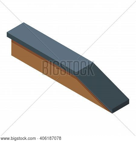 Street Ramp Icon. Isometric Of Street Ramp Vector Icon For Web Design Isolated On White Background