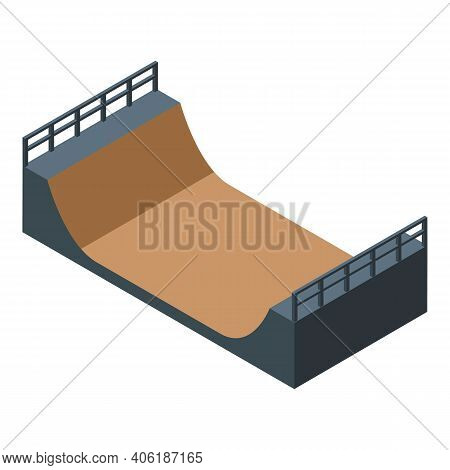 Extreme Sport Ramp Icon. Isometric Of Extreme Sport Ramp Vector Icon For Web Design Isolated On Whit