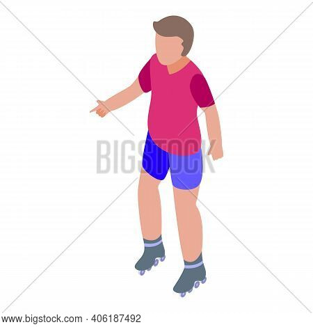 Rollerblade Activity Icon. Isometric Of Rollerblade Activity Vector Icon For Web Design Isolated On