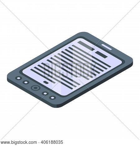 Book Reader Icon. Isometric Of Book Reader Vector Icon For Web Design Isolated On White Background