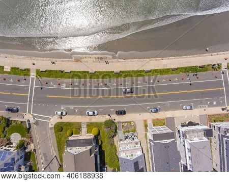 Swampscott Coast Top View Including Kings Beach And Humphrey Street At Phillips Street In Town Of Sw