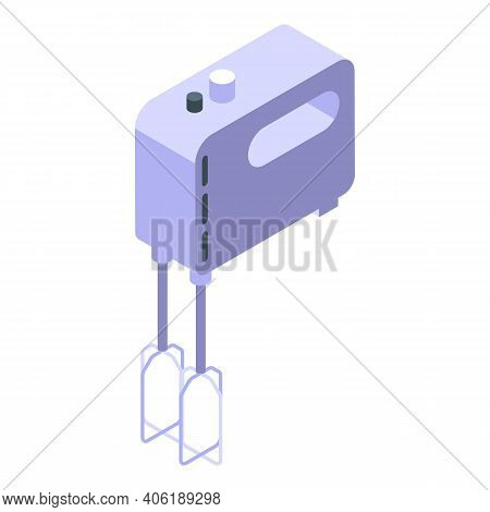Electric Dough Mixer Icon. Isometric Of Electric Dough Mixer Vector Icon For Web Design Isolated On