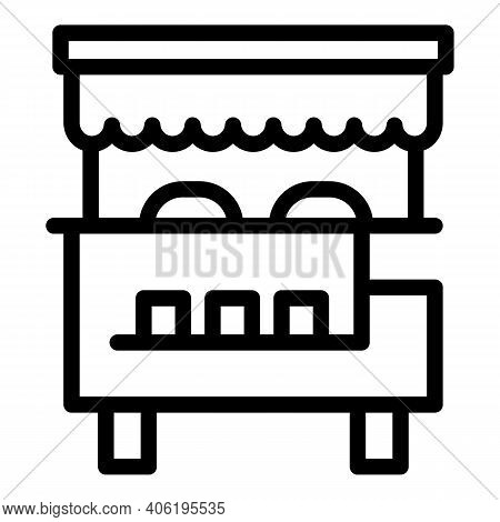 Hot Dog Street Snack Icon. Outline Hot Dog Street Snack Vector Icon For Web Design Isolated On White
