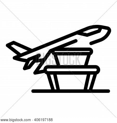 Airplane Meal Icon. Outline Airplane Meal Vector Icon For Web Design Isolated On White Background