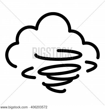 Hurricane Cloud Icon. Outline Hurricane Cloud Vector Icon For Web Design Isolated On White Backgroun