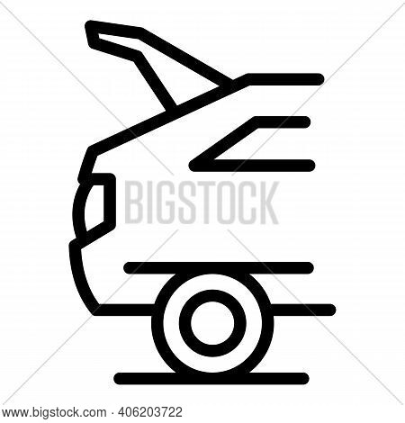 Open Trunk Car Icon. Outline Open Trunk Car Vector Icon For Web Design Isolated On White Background