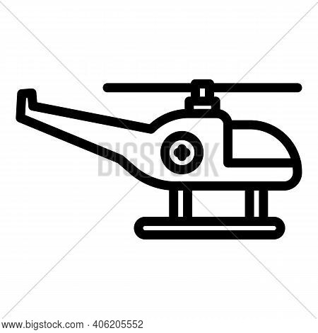 Force Rescue Helicopter Icon. Outline Force Rescue Helicopter Vector Icon For Web Design Isolated On