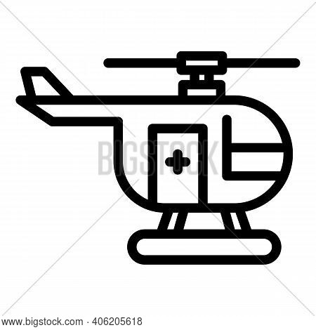 Guard Rescue Helicopter Icon. Outline Guard Rescue Helicopter Vector Icon For Web Design Isolated On