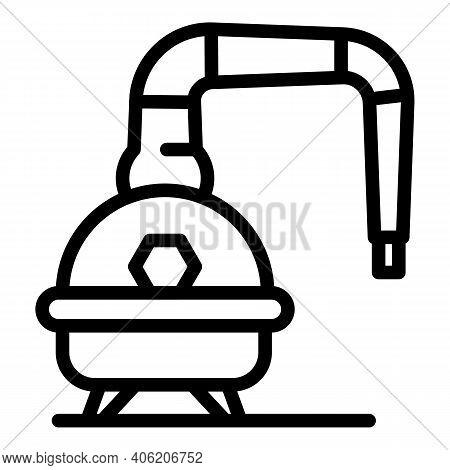 Bourbon Equipment Icon. Outline Bourbon Equipment Vector Icon For Web Design Isolated On White Backg