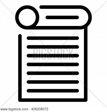 Magazine Newspaper Icon. Outline Magazine Newspaper Vector Icon For Web Design Isolated On White Bac