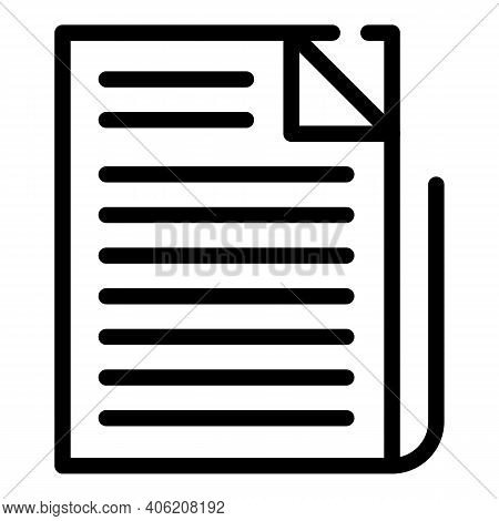 Pile Newspaper Icon. Outline Pile Newspaper Vector Icon For Web Design Isolated On White Background