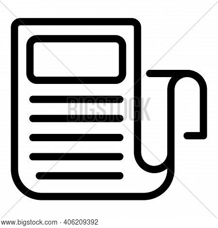 Print Newspaper Icon. Outline Print Newspaper Vector Icon For Web Design Isolated On White Backgroun