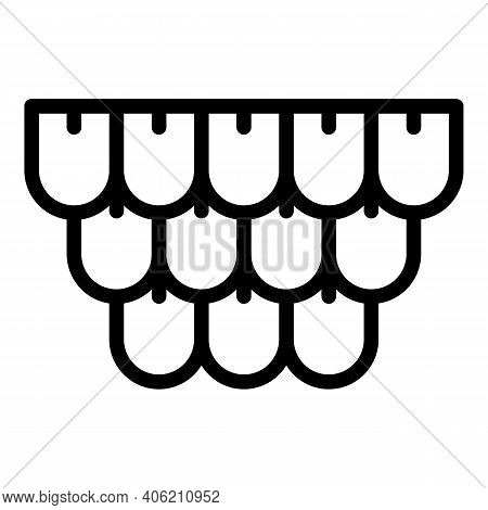 Builder House Roof Icon. Outline Builder House Roof Vector Icon For Web Design Isolated On White Bac