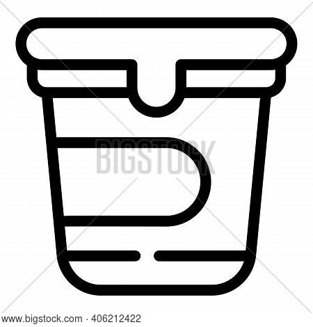 Yogurt Icon. Outline Yogurt Vector Icon For Web Design Isolated On White Background