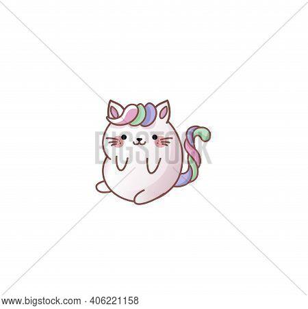 Cat Kitty Kawaii Chibi Style Emoji Character Sticker Emoticon Smile Emotion For Mascot