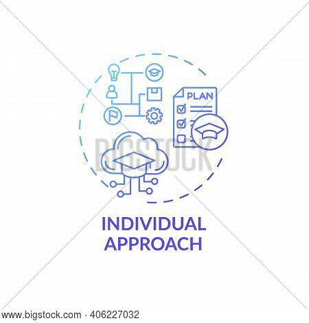 Individual Approach Concept Icon. Online Teaching Tips. Homework Depends Entirely On Abilities And K