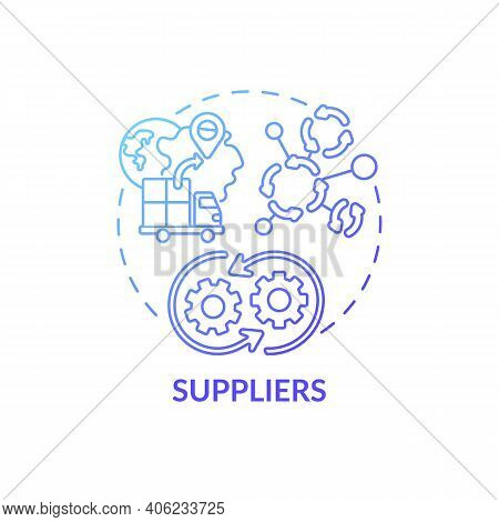 Suppliers Concept Icon. Co-creation Participant Idea Thin Line Illustration. Production Capabilities