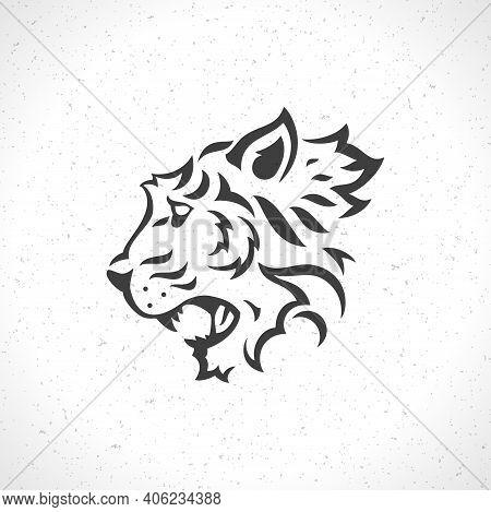Tiger Face Logo Emblem Template Mascot Symbol