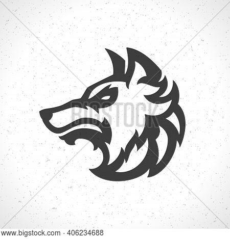Wolf Face Logo Emblem Template Mascot Symbol