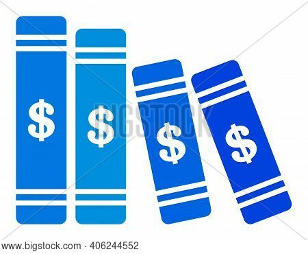 Accounting Books Icon With Flat Style. Isolated Vector Accounting Books Icon Image, Simple Style.