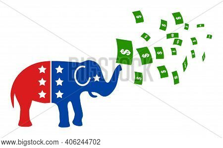 American Stimulus Money Inflation Icon With Flat Style. Isolated Vector American Stimulus Money Infl