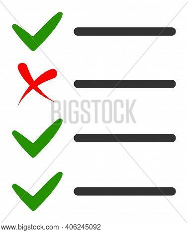 Check List Icon With Flat Style. Isolated Vector Check List Icon Illustrations, Simple Style.