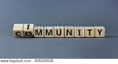 Community Immunity Symbol. Turned A Cube And Changed The Word 'community' To 'immunity'. Beautiful G